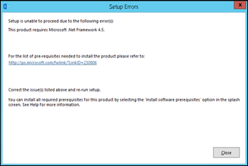 Iu0027m Pretty Sure That Iu0027ve Configured Prerequisites Properly. Even I Checked  The Installed Features To Check If I Forgot The Required Framework.