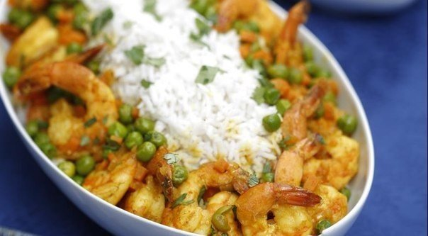 Curry Shrimp With Coconut Rice Recipe | Yummly