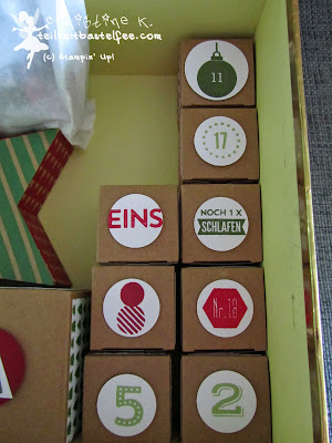 stampin up, advent calendar, adventskalender, 25 days, 24 türchen