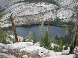 Merced Lake from a few thousand feet up.