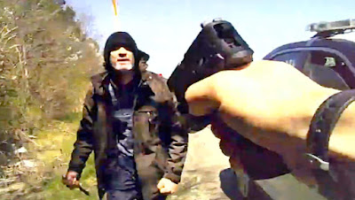 Video: Officer's body-cam captures shooting of knife-wielding murder suspect