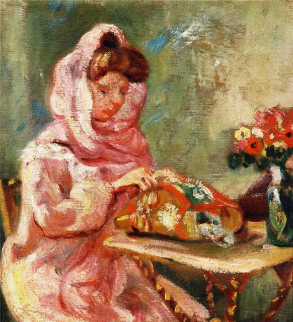 Louis Valtat - Suzanne Valtat Embroidering 1903