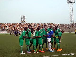 FC Renaissance lors de la demi-finale des preliminaires de la Coupe du Congo contre SC Ujana, le 23/02/15 au stade Tata Raphael de Kinshasa, score: 4-1 pour FC Renaissance. Ph. RadioOkapi/Nana Mbala