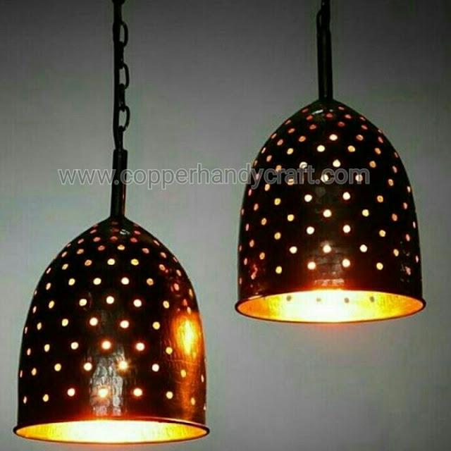 lampu gantung tembaga cafe minimalis