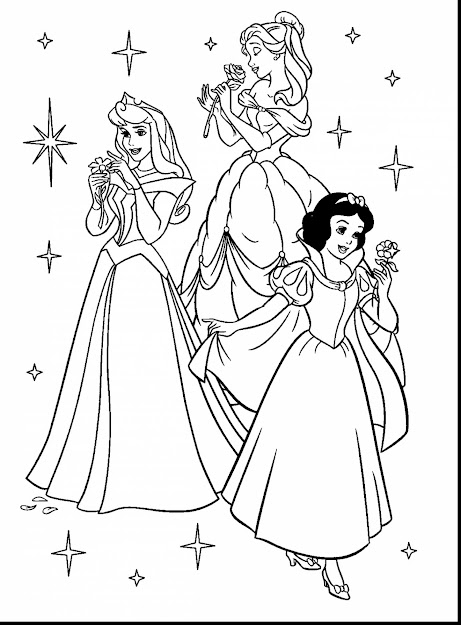 Marvelous Disney Princess Coloring Pages With Free Printable Disney  Coloring Pages And Free Printable Disney Frozen