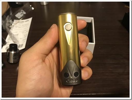 IMG 4440 thumb - 【金色の翼に魅せられて】CigGo Tattoo Plus MOD(シグゴータトゥープラス)レビュー!黄金に輝くボディ!まさに漢のBOX MOD……ところでこれ、VAPEレベルが上がるってやつじゃなかったっけ~?【心の小宇宙】