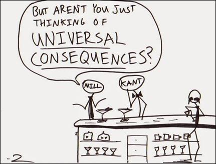 mill-versus-kant desenho - O imperativo categórico é consequencialista