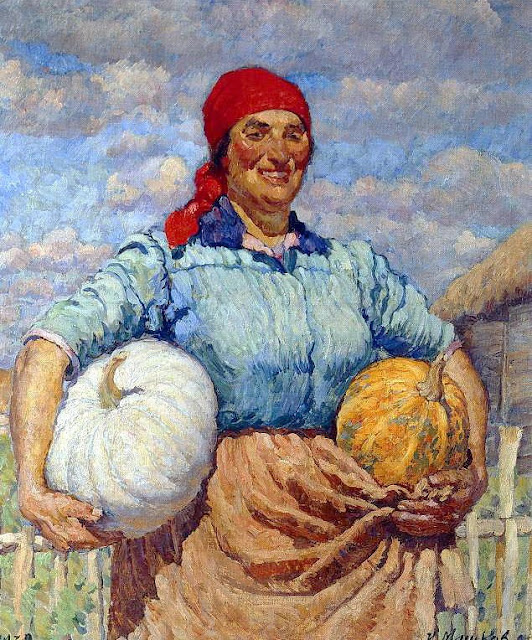 Ilya Mashkov - Farmer with pumpkins