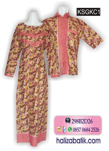 KSGKC1 Baju Batik Couple Murah, Busana Batik Modern, Model Baju Terbaru, KSGKC1