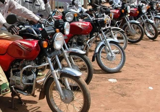 Bodaboda riders parked. PHOTO | FILE