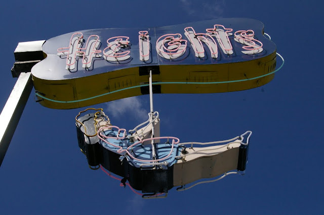 "The Iconic ""Heights"" sign that used to read ""Helen's"" for the store that was there for like 50 years."