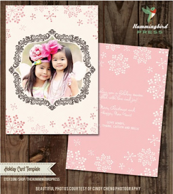 holiday photo card templates
