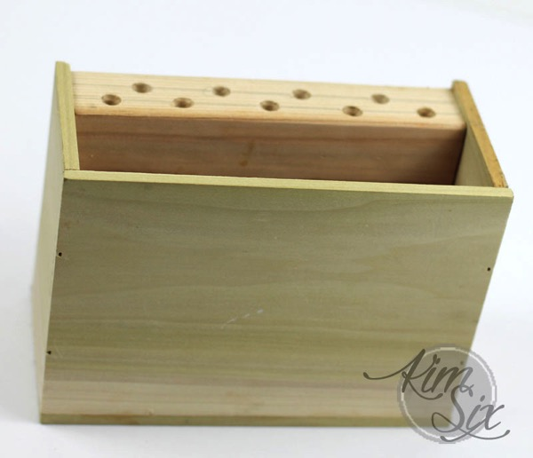 Simple wooden box desk organizer
