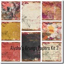 Alysha's Grunge Papers Kit 2 collage