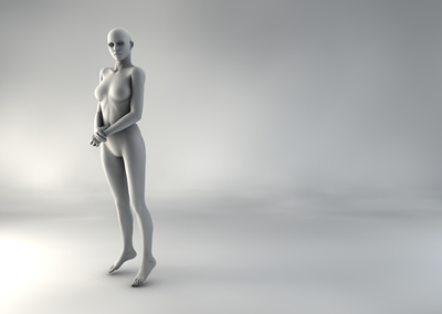 femme 3D pose naturelle SP 06