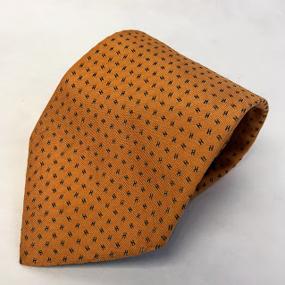 Hermès Orange H Tie