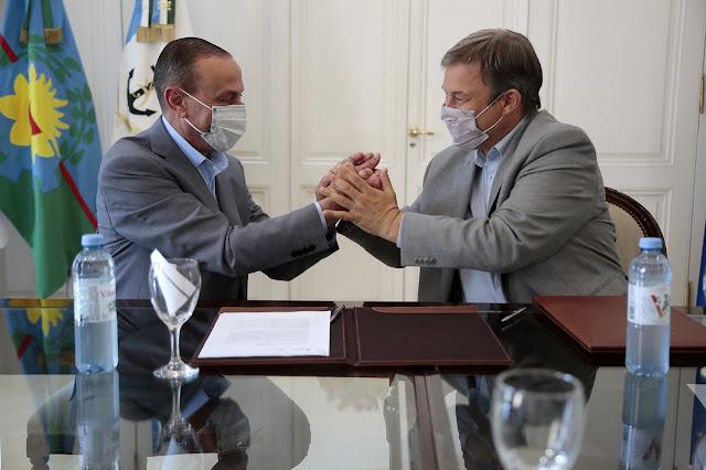 Cascallares firmó convenio para construir un paso bajo nivel