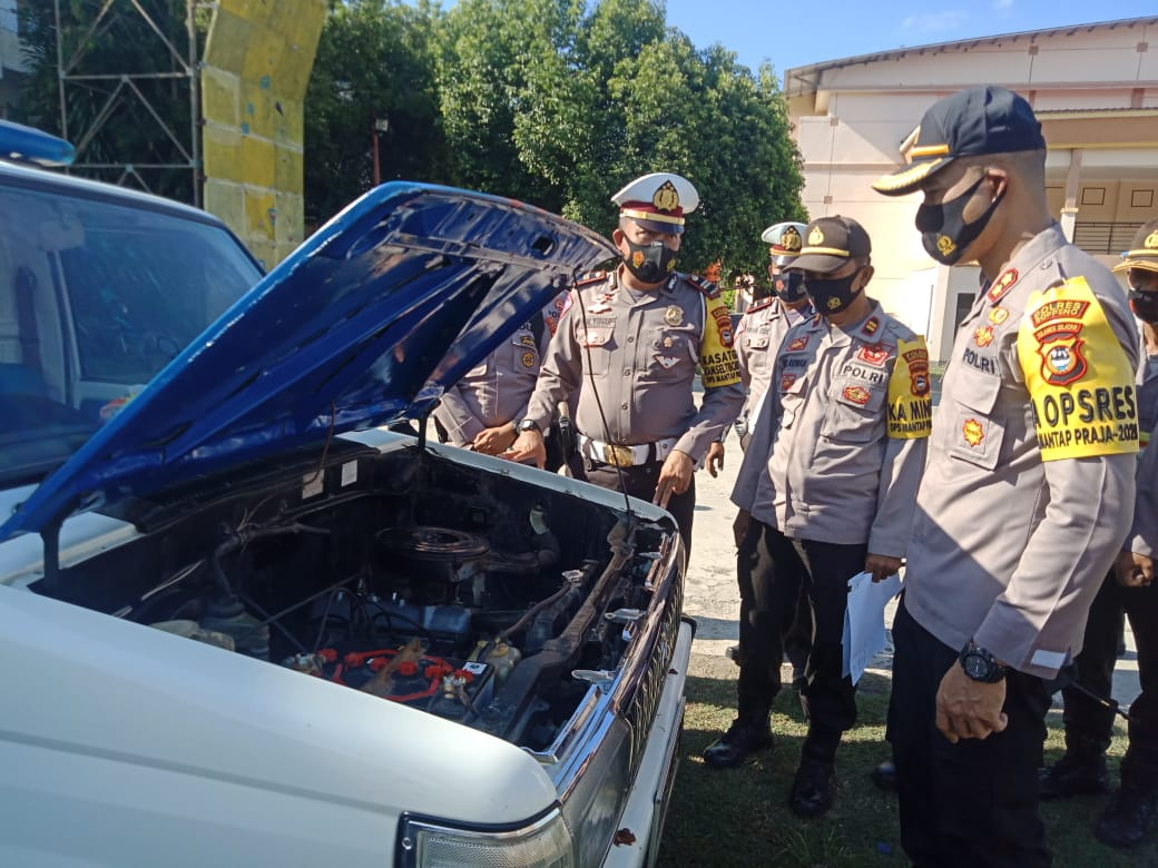 Kapolres Soppeng, Laksanakan Pemeriksaan Kendaraan Dinas Operasional