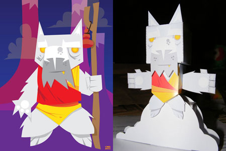 Sensei Cat Paper Toy