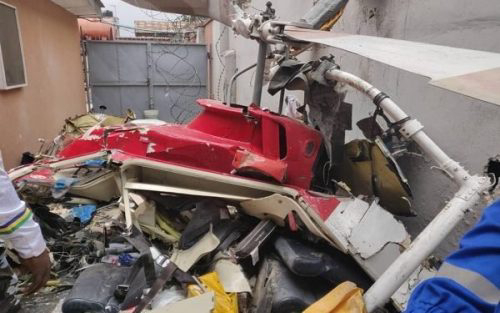Break-in: Casualties As Chopper Crash Into Building In Opebi, Lagos