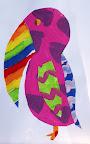 Tissue paper Collage by Elizabeth