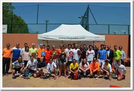 Torneo de Medios, iniciativa de la Federación Madrileña de Pádel FMP, Mayo 2016.