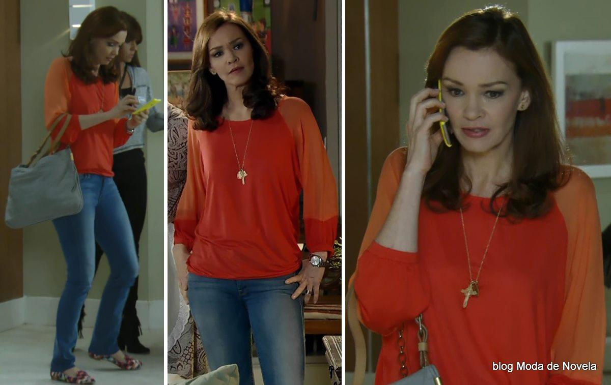 moda da novela Em Família - look da Helena dia 5 de maio