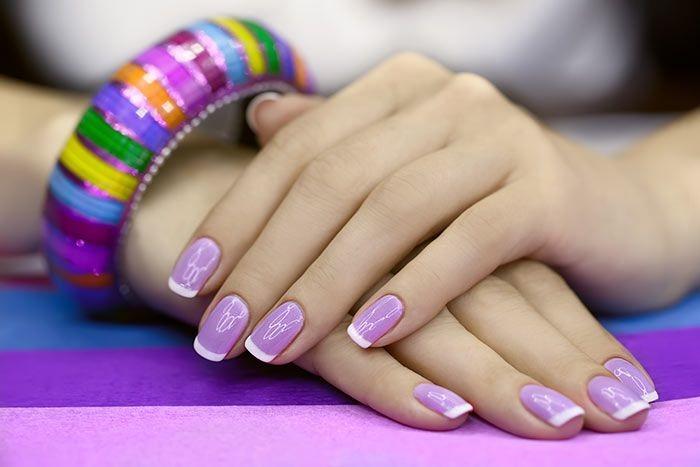 Elegant French Manicure nail art design