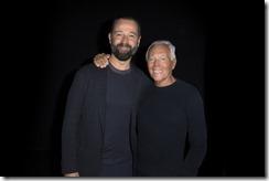 Giorgio Armani e Fabio Volo - SGP