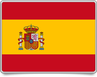 Spanish framed flag icons with box shadow