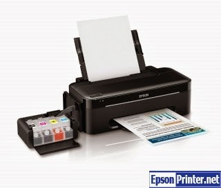 Reset Epson L555 inkjet printer by application