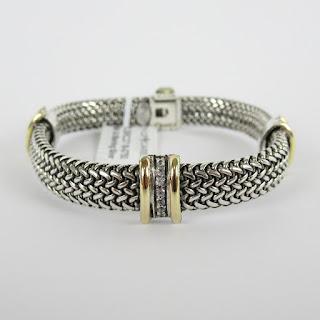 Phillip Gavriel Sterling & White Sapphire Bracelet