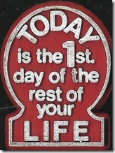 Today is the first day fridge magnet-8x6