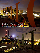 Photo: ELLO - ROOF SIGN Copenhagen, Denmark, 2010. © photo by jean-marie babonneau all rights reserved http://www.betterworldinc.org