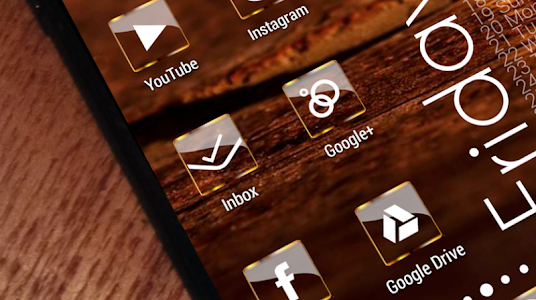 Golden Glass Nova Launcher theme Icon Pack 7.2 (Paid)