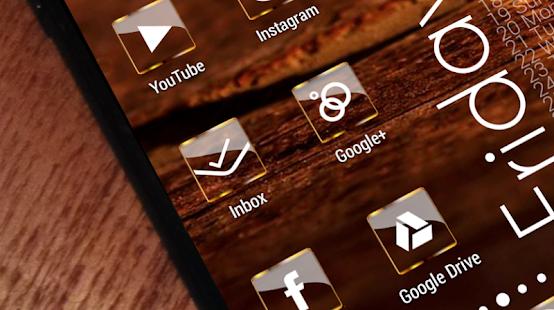 Golden Glass Nova Launcher theme Icon Pack Screenshot