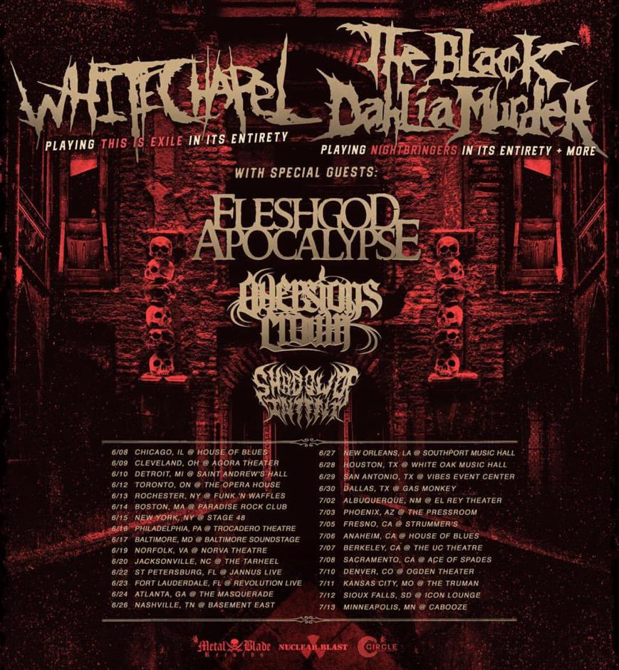 The Black Dahlia Murder Tour 2018