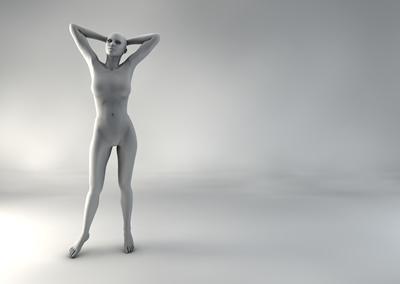 femme 3D pose naturelle SP 11