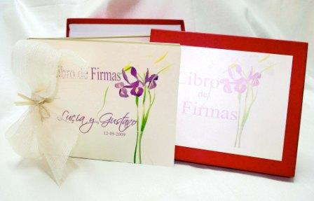 Libro de firmas para boda floral