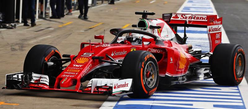 Sebastian Vettel y Ferrari prueban el Halo 2 en Silverstone