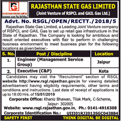 RSGL Advertisement 2019 www.indgovtjobs.in