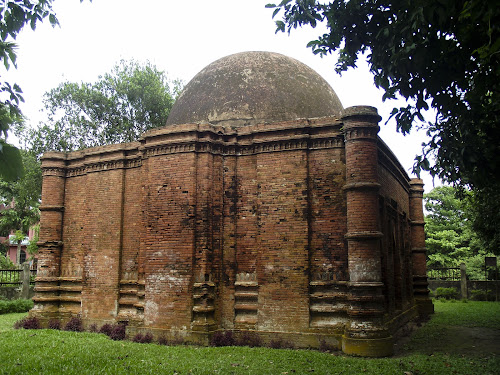 West side view of the mosque