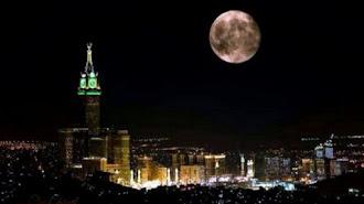 Subhanallah , Fenomena Langka Bulan Purnama di Atas Ka'bah Berlangsung