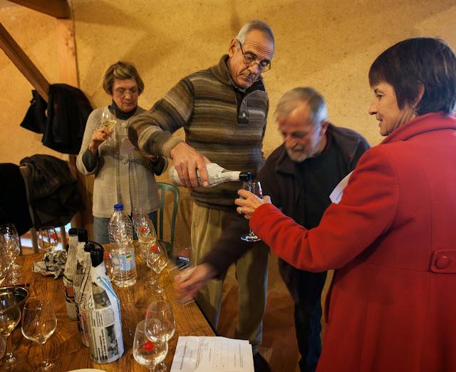 Françoise et Christian Starck avec Bernard Rocheleux et ...