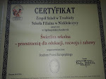 Certyfikat dla świetlicy szkolnej w Niekłończycy