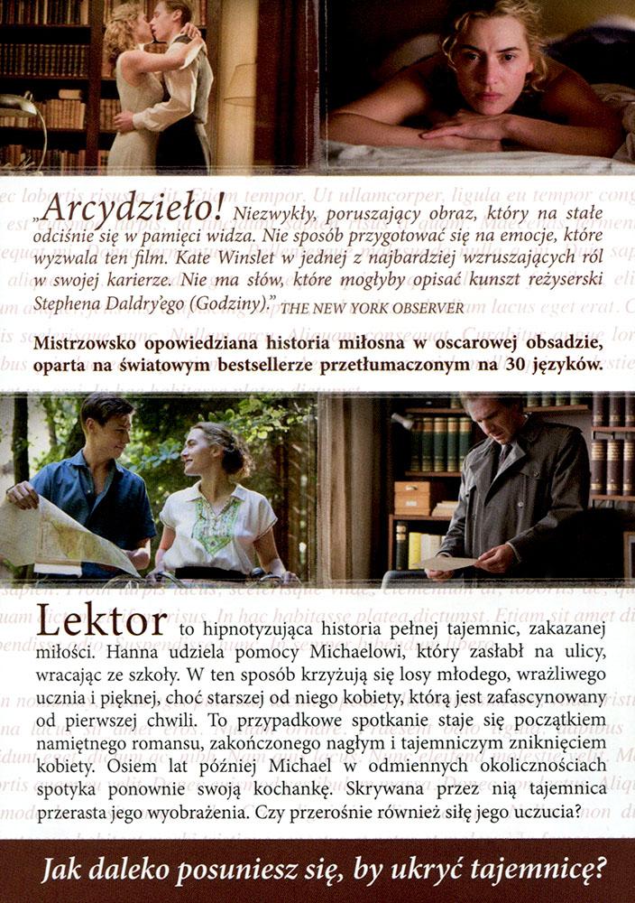 Ulotka filmu 'Lektor (tył)'