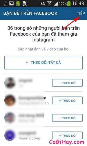 theo dõi bạn bè trên instagram