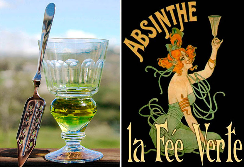 Dark Roasted Blend Drinking Of Absinthe Dancing With The Green Fairy