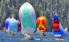 Gorgeous sailing on Huntington Lake- High Sierras Regatta