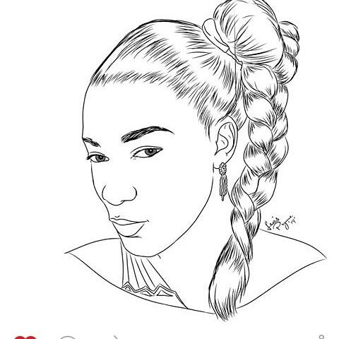 Queen Nwokoye Gets a Pencil Potrait